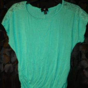 Lace Accented Top